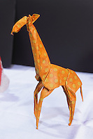 OrigamiUSA 2014 exhibition. Origami giraffe designed by Marc Kirschenbaum