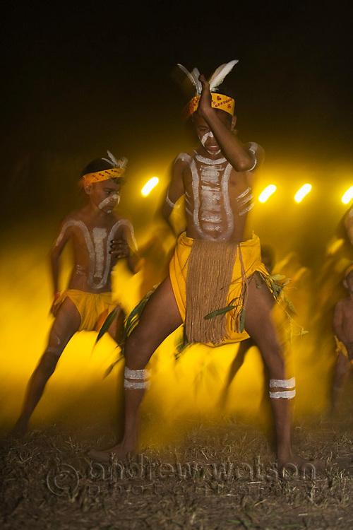 Indigenous dancers performing at the Laura Aboriginal Dance Festival.  Laura, Queensland, Australia