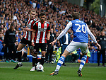 Paul Coutts of Sheffield Utd and George Baldock of Sheffield Utd contrive an overlap during the Championship match at the Hillsborough Stadium, Sheffield. Picture date 24th September 2017. Picture credit should read: Simon Bellis/Sportimage