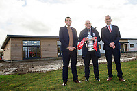 Lincoln City's chief executive Liam Scully, left, The Football Association's director of professional game relations, Andy Ambler and Lincoln City's vice-chairman Roger Bates outside Lincoln City's new Elite Performance Centre<br /> <br /> Photographer Chris Vaughan/CameraSport<br /> <br /> The official opening of Lincoln City's new Elite Performance Centre - Wednesday 7th November 2018 - Scampton, Lincolnshire<br /> <br /> World Copyright © 2018 CameraSport. All rights reserved. 43 Linden Ave. Countesthorpe. Leicester. England. LE8 5PG - Tel: +44 (0) 116 277 4147 - admin@camerasport.com - www.camerasport.com