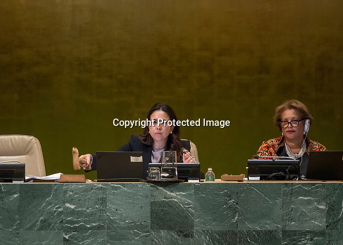 72 General Debate – 23rd of September  2017<br /> <br /> UAE Ambassador Lana Nusseibeh Opening GA session