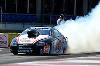 Sept. 23, 2012; Ennis, TX, USA: NHRA pro stock driver Dave Connolly during the Fall Nationals at the Texas Motorplex. Mandatory Credit: Mark J. Rebilas-