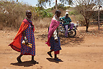 Maasai women at the Predator Compensation Fund Pay Day, Mbirikani Group Ranch, Amboseli-Tsavo eco-system, Kenya, Africa, October 2012