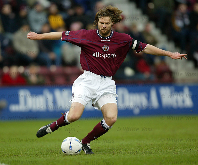 Steven Pressley, Hearts.pic willie vass
