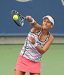 Chanelle Scheepers moves on at the Western and Southern Financial Group Masters Series in Cincinnati on August 14, 2012