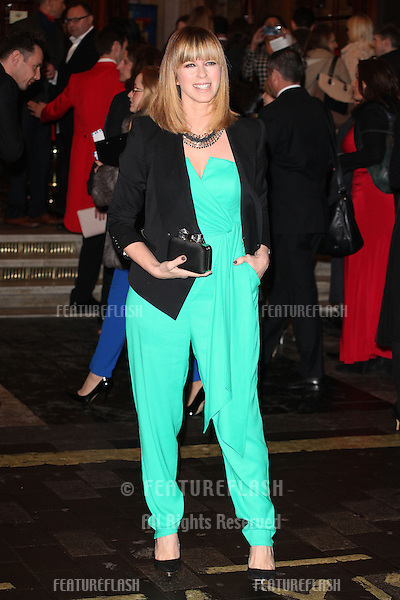 Kate Garraway arriving for the I Can't Sing Press Night, at the Paladium, London. 26/03/2014 Picture by: Alexandra Glen / Featureflash