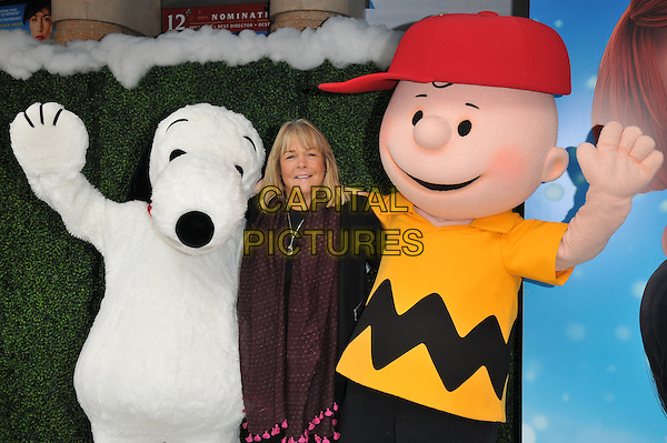 Linda Robson attends the &quot;Snoopy &amp; Charlie Brown: The Peanuts Movie 3D&quot; gala film screening, Vue West End cinema, Leicester Square, London, England, UK, on Saturday 28 November 2015.<br /> CAP/CAN<br /> &copy;Can Nguyen/Capital Pictures