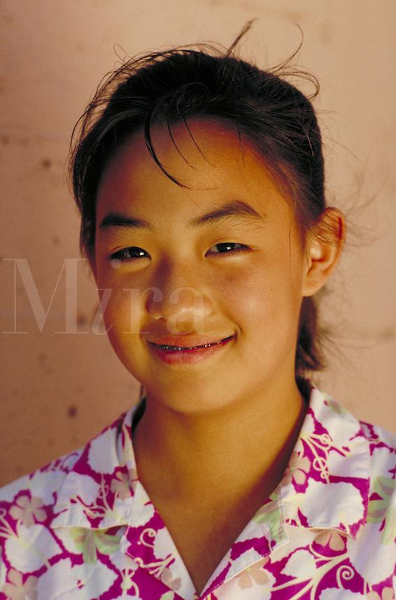 KOREAN-AMERICAN TEEN GIRL PORTRAIT. KOREAN-AMERICAN TEENAGER. SAN FRANCISCO CALIFORNIA USA.