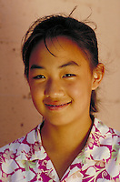 KOREAN-AMERICAN TEEN GIRL PORTRAIT. KOREAN-AMERICAN TEENAGER. SAN FRANCISCO CALIFORNIA USA.
