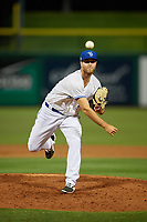 Dunedin Blue Jays relief pitcher Turner Larkins (23) during a Florida State League game against the Clearwater Threshers on April 4, 2019 at Spectrum Field in Clearwater, Florida.  Dunedin defeated Clearwater 11-1.  (Mike Janes/Four Seam Images)