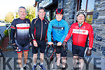 Mike Dennehy (Clougherbrien), John and Eoin Buckley (Lisanearla) and Denis Dunworth (St Brendans Park) supporting the RNLI Cycling fundraiser at O'Donnells in Mounthawk on Saturday morning.