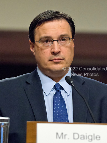 Robert B. Daigle testifies before the United States Senate Armed Services Committee on his nomination as Director of Cost Assessment and Program Evaluation, US Department of Defense on Capitol Hill in Washington, DC on May 9, 2017.<br /> Credit: Ron Sachs / CNP