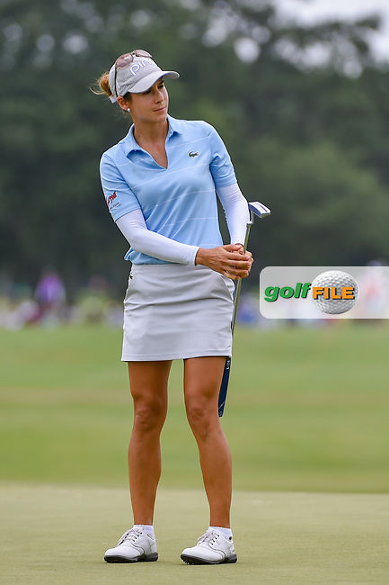 Azahara Munoz (ESP) watches her putt on 9 during round 2 of the 2019 US Women's Open, Charleston Country Club, Charleston, South Carolina,  USA. 5/31/2019.<br /> Picture: Golffile | Ken Murray<br /> <br /> All photo usage must carry mandatory copyright credit (© Golffile | Ken Murray)