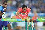Wataru Yazawa (JPN), <br /> AUGUST 15, 2016 - Athletics : <br /> Men's 110m Hurdles  Qualifying Round <br /> at Olympic Stadium <br /> during the Rio 2016 Olympic Games in Rio de Janeiro, Brazil. <br /> (Photo by YUTAKA/AFLO SPORT)