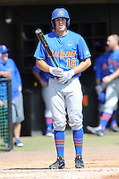 Florida Gators left fielder Justin Shafer #16 during a game against the Tennessee Volunteers at Lindsey Nelson Stadium, Knoxville, Tennessee April 14, 2012. The Volunteers won the game 5-4  (Tony Farlow/Four Seam Images)..