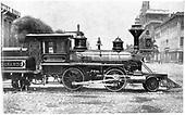 Builders photo of D&amp;RG locomotive #1 &quot;Montezuma&quot; bulit in 1871. Baldwin Locomotive Works #2459.<br /> D&amp;RG  Philadelphia, PA 6/1871