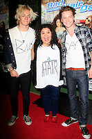 LOS ANGELES - FEB 10: Ross Lynch, Raini Rodriguez, Calum Worthy at the screening of the Disney Channel Original Movie 'Bad Hair Day' at the Frank G Wells Theater on February 10, 2015 in Burbank, CA