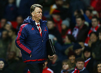 Manchester United manager Louis van Gaal during the Barclays Premier League match between Manchester United and Swansea City played at Old Trafford, Manchester on January 2nd 2016