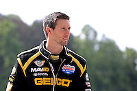 May 11, 2013; Commerce, GA, USA: NHRA top fuel dragster driver Morgan Lucas during the Southern Nationals at Atlanta Dragway. Mandatory Credit: Mark J. Rebilas-