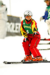 16 January 2005 - Lake Placid, New York, USA - Shuang Cheng representing China, competes in the FIS World Cup Ladies' Aerial acrobatic competition, ranking 14th for the day, at the MacKenzie-Intervale Ski Jumping Complex, in Lake Placid, NY. ..Mandatory Credit: Ed Wolfstein Photo.