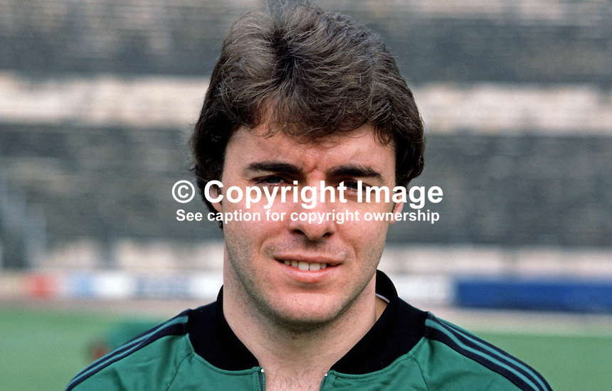 Mal Donaghy, footballer, Luton Town FC & N Ireland, 198011000364..Copyright Image from Victor Patterson, 54 Dorchester Park, Belfast, UK, BT9 6RJ..Tel: +44 28 9066 1296.Mob: +44 7802 353836.Voicemail +44 20 8816 7153.Skype: victorpattersonbelfast.Email: victorpatterson@mac.com.Email: victorpatterson@ireland.com (back-up)..IMPORTANT: If you wish to use this image or any other of my images please go to www.victorpatterson.com and click on the Terms & Conditions. Then contact me by email or phone with the reference number(s) of the image(s) concerned.