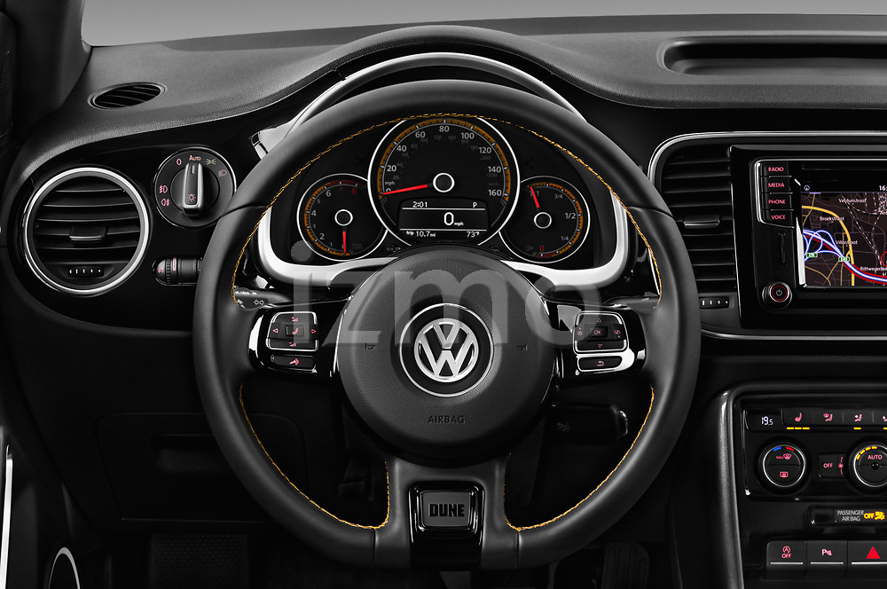 Car pictures of steering wheel view of a 2017 Volkswagen Beetle Dune 3 Door Hatchback