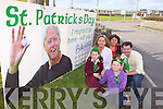 St Patrick's Day plans are well underway in Ballybunion as new giant billboards were erected in the town on Friday afternoon. Pictured were: Kellyanne Walsh and Ava Carr with Martina Morgan Carr, Joanne Kelly Walsh and Christopher McSorley.