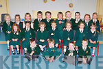 Scoil Bhride, Loreto, Killarney junior infants on Friday front row l-r: Shane O'Sullivan, Jack Murphy, Luke Courtney, Daniel Fleming. Middle row: Sarah Cooper, Ellie Francis, Ciara Sheahan, Amy Healy, Ellie Greene, Lucy Keane, Sorcha Beazley. Back row: Leah Clarke, Nicole Murphy, Bet Lucey, Da?ire Murphy, Tom Benson, Bryan Flaherty, Sean Hurley-Lyne, Craig Leggatte, Saidhbh Stack and Elizabeth Fleming..
