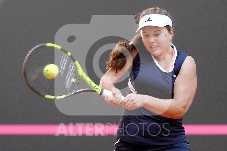 USA's Kayla Day during Junior Davis Cup 2015 Semifinal match. October 2, 2015.(ALTERPHOTOS/Acero)