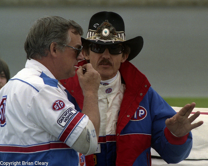 Richard Petty Dale Inman Daytona 500 at Daytona International Speedway in Daytona Beach, FL on February 14, 1988. (Photo by Brian Cleary/www.bcpix.com)