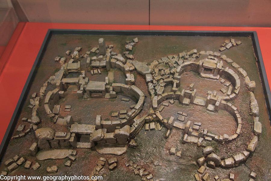 Mnajdra temple model in National Museum of Archaeology, Valletta, Malta