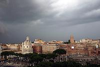 A panoramic view of Mercati di Traiano. I mercati di Traiano