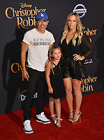 Teddi Mellencamp, Edwin Arroyave &amp; Daughter at the world premiere of Disney's &quot;Christopher Robin&quot; at Walt Disney Studios, Burbank, USA 30 July 2018<br /> Picture: Paul Smith/Featureflash/SilverHub 0208 004 5359 sales@silverhubmedia.com