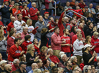 Washington, DC - March 10, 2018: Davidson Wildcats fans during the Atlantic 10 semi final game between St. Bonaventure and Davidson at  Capital One Arena in Washington, DC.   (Photo by Elliott Brown/Media Images International)
