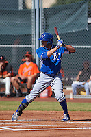 Kansas City Royals Brandon Dulin (11) during an instructional league game against the San Francisco Giants on October 22, 2015 at the Giants Baseball Complex in Scottsdale, Arizona.  (Mike Janes/Four Seam Images)