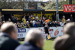 Southport fans in the covered enclosure watching their team taking on Harrogate Town at Wetherby Road, Harrogate. The Conference North match was won 3-2 by Southport, a result which kept the Sandgrounders on course for top spot in the division while Harrogate Town remained bottom.