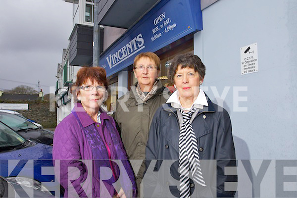 Staff at Saint Vincent De Paul Killarney Patricia Lyne, Margaret Cremin and Helen O'Leary.