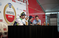 much deserved beer for Michael Matthews (AUS/Orica-GreenEDGE) at the post-race press conference<br /> <br /> 50th Amstel Gold Race 2015