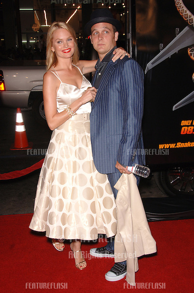 "Actress SUNNY MABREY & actor ETHAN EMBRY at the Los Angeles premiere of her new movie ""Snakes on a Plane"" at the Chinese Theatre, Hollywood..August 17, 2006  Los Angeles, CA.© 2006 Paul Smith / Featureflash"