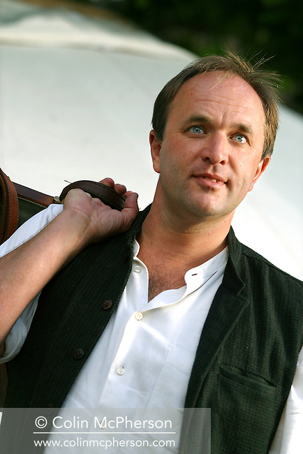 Scottish travel writer William Dalrymple, pictured at the Edinburgh International Book Festival where he presented his latest book 'White Mughals' . The Book Festival is the world's biggest literary festival with appearances by over 500 authors from across the world..............
