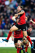 June 3rd 2017, AMI Stadium, Christchurch, New Zealand; Super Rugby; Crusaders versus Highlanders;  Mitch Hunt of the Crusaders celebrates winning the match with a drop goal during the Super Rugby match