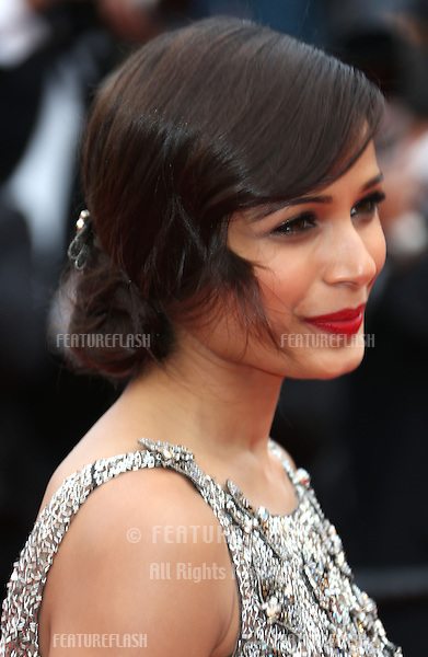 Freida Pinto at the 66th Cannes Film Festival - The Bling Ring premiere.Cannes, France. 16/05/2013 Picture by: Henry Harris / Featureflash
