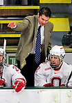 2 January 2011: Ohio State University Buckeyes' Associate Head Coach Steve Rohlik stands behind he bench during a game against the Army Black Knights at Gutterson Fieldhouse in Burlington, Vermont. The Buckeyes defeated the Black Knights 5-3 to win the 2010-2011 Catamount Cup. Mandatory Credit: Ed Wolfstein Photo