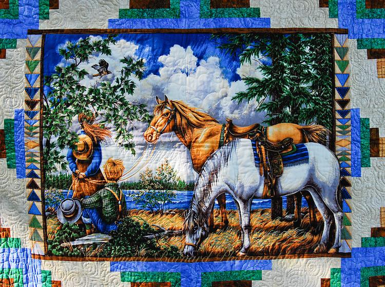 Children and horses.