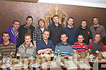 Stag Night. Martin Hehir(centre back) enjoying his stag night at The Horseshoe Bar in Listowel on Saturday night last. Front: Eamonn Kelliher, Alan Canniff, Colm Hehir, Martin Mahony, Kieran Hehir & David Moore. Back: Anthony Hanrahan,James Hehir, Rory Gleeson, Martin Hehir, David Corcoran, Paul Purcell & Ollie Brennan.