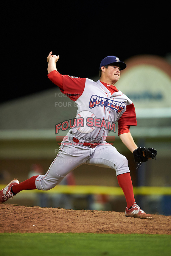 Williamsport Crosscutters pitcher Anthony Sequeira (51) delivers a pitch during a game against the Batavia Muckdogs on July 15, 2015 at Dwyer Stadium in Batavia, New York.  Williamsport defeated Batavia 6-5.  (Mike Janes/Four Seam Images)