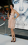 "WESTWOOD, CA. - September 09: Jacinda Barrett arrives at the Los Angeles premiere of ""Whiteout"" at the Mann Village Theatre on September 9, 2009 in Westwood, Los Angeles, California."