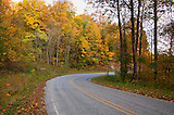 Brushy Mountain road turn, a scenic view with fall colors adding beauty to it.