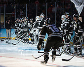 Steven McParland (PC - 15) - The Providence College Friars defeated the Boston University Terriers 4-3 to win the national championship in the Frozen Four final at TD Garden on Saturday, April 11, 2015, in Boston, Massachusetts.