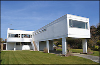 BNPS.co.uk (01202 558833)<br /> Pic: AlbertHill/BNPS<br /> <br /> ***Only use in relation to book***<br /> <br /> Sea Lane House, West Sussex.<br /> <br /> Stunning images of Britain's most striking and iconic modernist homes have been showcased in a new book.<br /> <br /> The Modern House offers a glimpse into the world of contemporary design and the groundbreaking ideas that have helped shape the UK's residential landscape.<br /> <br /> The 190 colour and black and white pictures include previously unseen interiors and conversions.
